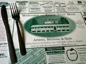 diner placemat